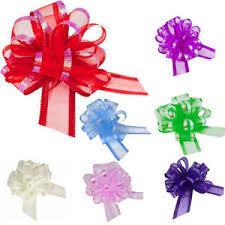 gift wrap bows 50mm organza pull bows large florist ribbon wedding car