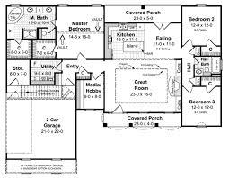 southern style house plan 3 beds 2 00 baths 1751 sq ft plan 21 124