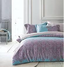 amazon com bohemian paisley duvet quilt cover light purple boho