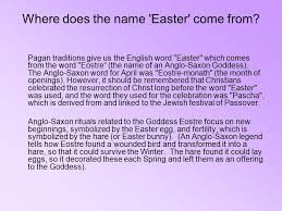 where does the name easter come from it all