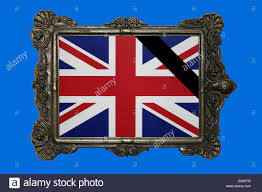 illustration the british flag is seen in a frame with a black
