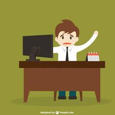 dessin de bureau coincé derrière un dessin animé de bureau télécharger des