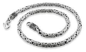 chain bracelet sterling silver images Sterling silver 7 quot round byzantine chain bracelet 5mm gif