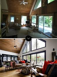 before and after a designer cottage in haliburton county ontario