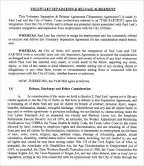 employment separation agreement termination letter template 25 35