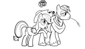 pony coloring pages rarity page rainbow pictures to print