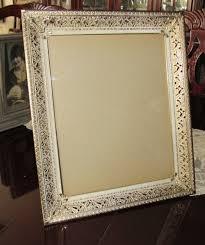 vintage picture frame easel back frame wall frame 1950 large