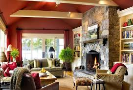 stone fireplace wall color ideas makeover on a budget before thumb