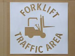 promote forklift safety with stencils a how to guide