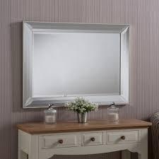 livingroom mirrors glass framed bevel mirror 104 x 76cm bevel leaner