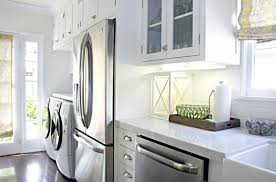 laundry in kitchen washer and dryer in kitchen transitional kitchen titan and co