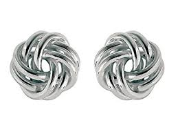 knot earrings sterling silver knot earrings 10mm stud earrings