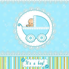 baby shower card vector illustration royalty free cliparts
