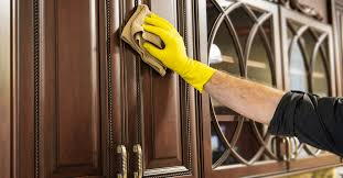 what should you use to clean wooden kitchen cabinets 4 easy ways to clean sticky wood cabinets with tips