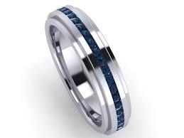 men s wedding bands men s wedding band channel set alexandrite stones in 14k white