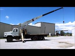 1988 international f2674 crane truck for sale sold at auction