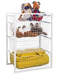 Wire Storage Unit Wire Basket Drawer Unit 4 Tier From Storage Box