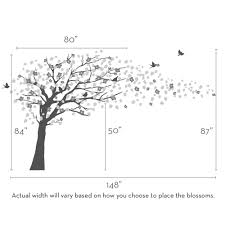 cherry blossom tree decal style scheme a