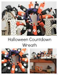 halloween countdown wreath beatnik kids