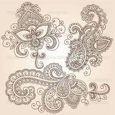 nice sample of paisley pattern tattoo design golfian com