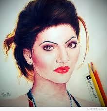 pencil color sketch of urvashi rautela desipainters com