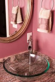 Pink Bathroom Fixtures by Pink Bathroom Photos Hgtv Glass Sink And Walls Loversiq