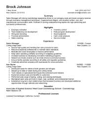 Commercial Manager Resume Best Salon Manager Resume Example Livecareer