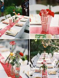 backyard circus wedding heather mike coca cola bottles