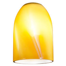 butterscotch art glass dome shape replacement glass shade 1 5 8