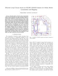 Bilinear Map Efficient Loop Closure Based On Falko Lidar Features For Online