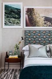 Modern Guest Bedroom Ideas - modern bedroom patterned headboard bedroom ideas