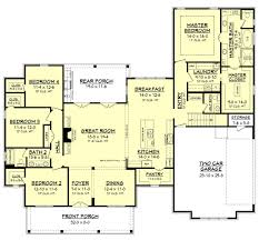Bath Floor Plans Farmhouse Style House Plan 4 Beds 2 50 Baths 2686 Sq Ft Plan