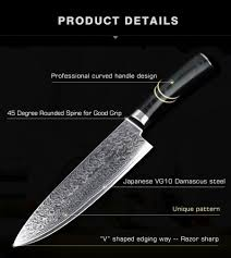 japanese steel kitchen knives ghl 8