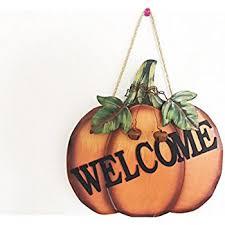pumpkin welcome wood sign wall décor thanksgiving fall