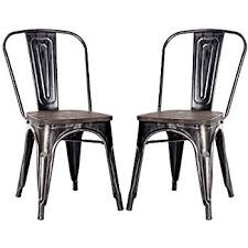 Ka Bistro Chair Merax High Back Steel Stackable Vintage Metal Dining