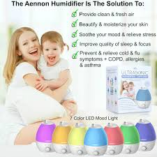cool mist humidifier 2 8l ultrasonic humidifiers for 10 hours cool mist humidifier 2 8l ultrasonic humidifiers for 10 hours use whisper quiet 7 color led lights auto shut off for home bedroom baby room office