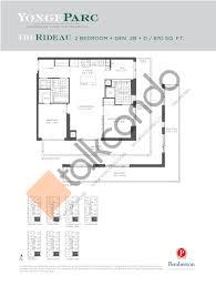 The Parc Condo Floor Plan by Yongeparc Condos Talkcondo