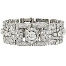cartier bracelet diamond images Cartier art deco diamond panel link bracelet betteridge jpg
