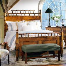Spanish Bedroom Furniture by Leonards Faux Bamboo Bed In Spanish Cedar Leonards Antiques