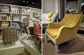 architecture mid century modern family room design with yellow