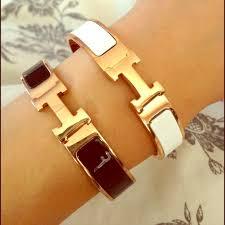 hermes bracelet white images Hermes jewelry hermes h bracelet black white poshmark jpg