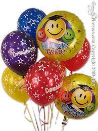 congrats grad smiley faces with graduation hats balloon bouquet