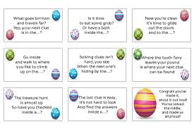 easter scavenger hunt 25 easter egg hunt clues and activities madeformums