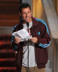 adam sandler accepting the brass balls so hes so handsome