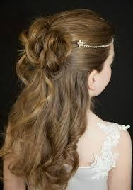 Hochsteckfrisurenen Lange Haare Konfirmation by Kinderfrisuren Mädchen Kommunion Halboffene Haare Stirnkette