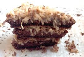 sugar free diabetic german chocolate cake with coconut pecan