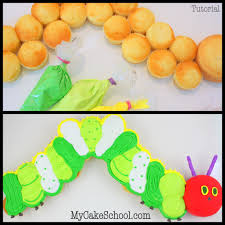 the very hungry caterpillar pull apart cupcake cake my cake school the very hungry caterpillar pull apart cupcake tutorial by mycakeschool com free
