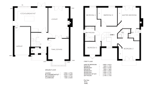Standard Measurement Of House Plan by Simple House Blueprints With Measurements And Simple Floor Plans