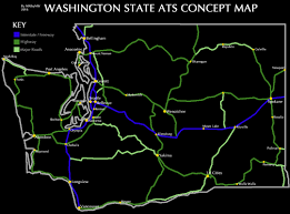 Washington State Cities Map by Washington State Ats Development Thread Scs Software