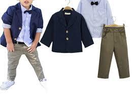 boys light blue tie boy clothes set dark blue jacket light blue shirt bow tie olive